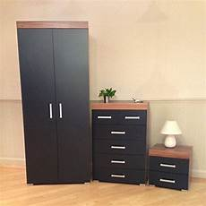 3 black walnut bedroom furniture set wardrobe 4