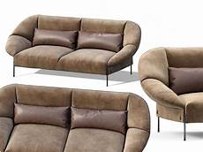 Sofa For Two 3d Image by Loveseat Sofa Flared Arm Tobacco L Two Seat 3d
