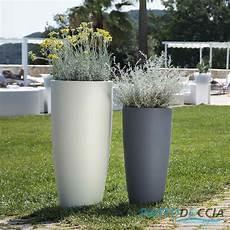vaso in resina vaso resina alto moderno tondo plastica pianta giardino