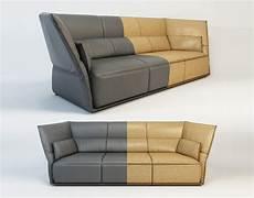Narrow Sofa 3d Image by 3d Model Poltrona Frau Almo By Garcia Cumini Sofa 3
