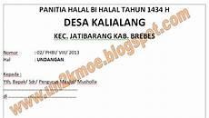 contoh undangan pelepasan jamaah haji contoh isi undangan