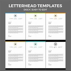 Microsoft Word Letterhead Templates Free Free Modern Letterhead Template For Ms Word