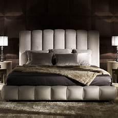 italian designer padded nubuck leather bed