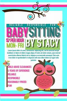 Babysitter Available Ads Postermywall Babysitting Flyers