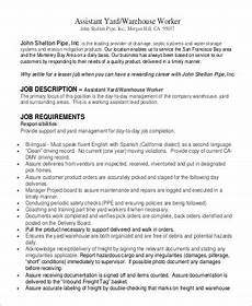 Retail Worker Job Description Sample Warehouse Worker Job Description 9 Examples In