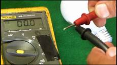 Light Bulb Tester Using A Multimeter To Check A Light Bulb Youtube