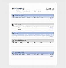 Itinerary Template Pages Business Travel Itinerary Template 23 Word Excel Amp Pdf
