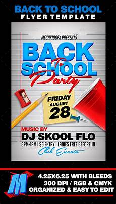 Back To School Flyer Templates Back To School Party Flyer Template By Megakidgfx
