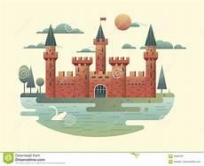 Castle Design Castle Design Flat Stock Vector Illustration Of Kingdom