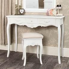 white dressing table and stool set range melody
