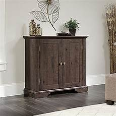 sauder new grange coffee oak accent storage cabinet 419029