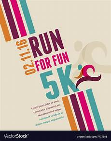 Colorful Poster Ideas Running Marathon People Run Colorful Poster Vector Image