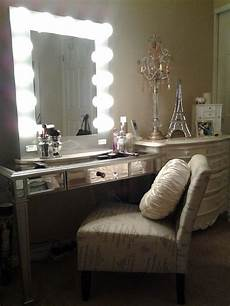 Vanity Table Set With Lights Vanity Tables With Hollywood Style Homesfeed