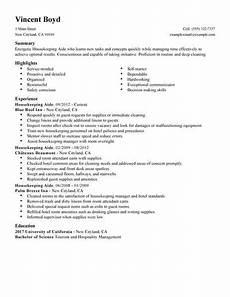 Housekeeping Aide Resume Housekeeping Aide Resume Sample No Experience Resumes