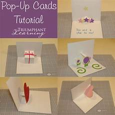 pop up card tutorial the lost of letter writing