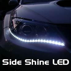 White Led Lights For Cars Led W8 White 2x 24 Quot Side Shine 30 Smd Hid Fog Drl