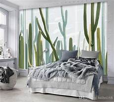 murales da letto european style living 3d wallpaper cacti plant wall mural