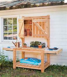 Free Gardening Plans 45 Diy Potting Bench Plans That Will Make Planting Easier