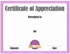 Certificate Of Apreciation Free Certificate Of Appreciation Template Customize Online