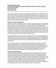 Sample Strategy Memo Free 10 Strategy Memos In Ms Word Google Docs