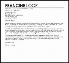 Resigning From A Board Volunteer Resignation Letter Resignation Letters