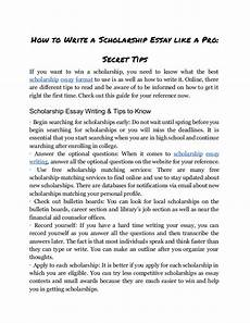 Writing A Scholarship Essay Discover The Secrets In Writing And Using A Scholarship