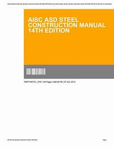 Steel Construction Manual 14th Edition Pdf Aisc Asd Steel Construction Manual 14th Edition By