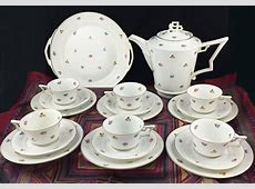 Antique Art Deco Tea Coffee Set Porcelain Gold Rosenthal