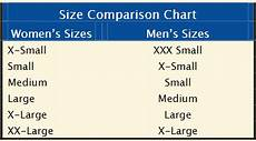 Shirt Conversion Chart Is A Women S Large T Shirt The Equivalent To A Men S