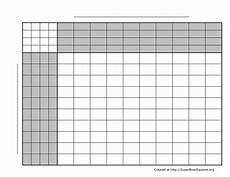 Football Square Template Super Bowl Squares Templat Try Updates