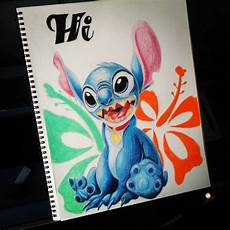 stitch colored pencil drawing by spencart100 on deviantart