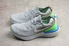 Nike With Light Shoes Nike Epic React Flyknit Light Grey Green Blue Running