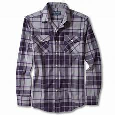 Purple Multi Check Flannel Smart Ring by Lyst American Rag Flannel Shirt In Purple For