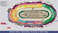 Bristol Motor Speedway Seating Chart With Row Numbers Sports Empire