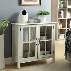 white accent cabinet and 2 glass doors sk19087c2 pw