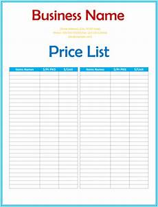 Template For Price List 6 Free Editable Price List Templates Word Excel