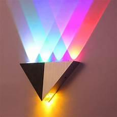Lemon Best Lights Colorful 5w Aluminum Triangle Led Wall Light Lamp Modern