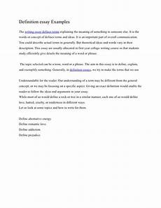 Writing A Definition Essay Examples Definition Essay Example