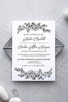 Wedding Invitations Microsoft Word Printable Wedding Invitation Template Rustic Alchemie