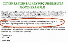 How To Present Salary Requirements Example Salary Requirement On Cover Letter