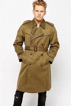 khaki mens leading oversized trench coat just 3