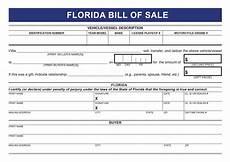 Florida Bill Of Sale Form Florida Free Car Bill Of Sale Form