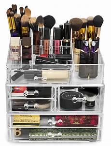 sorbus makeup storage set large display stackable