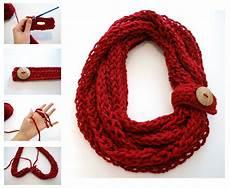 finger knit infinity scarf crochet infinity scarf free