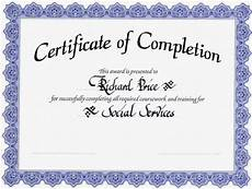 Blank Certificate Of Completion Template New Template Certificate Of Completion