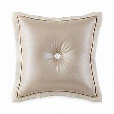 waterford 174 linens genevieve button square throw pillow in