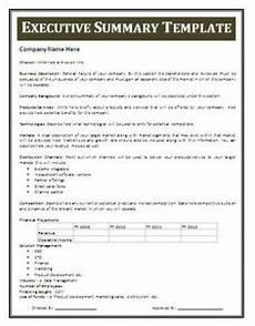 Executive Brief Template 13 Executive Summary Templates Excel Pdf Formats