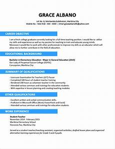 Newly Graduate Resume Sample Sample Resume Format For Fresh Graduates Two Page Format