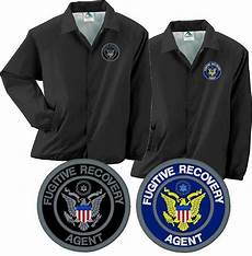 Bail Recovery Agent Fugitive Recovery Agent Embroidered Coaches Jacket Bail