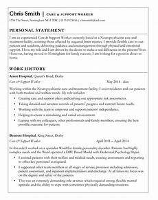 Personal Statement For Care Worker Care Support Worker Cv Template With Classic Border Ms